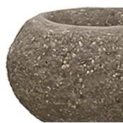 Polystone Rock - Kunststof pot - Findling Brown - H 22cm