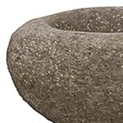 Polystone Rock - Kunststof pot - Findling Brown - H 25cm