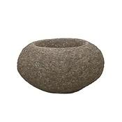 Polystone Rock - Kunststof pot - Findling Brown - H 33cm
