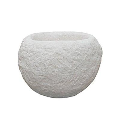 Polystone Rock - Kunststof pot - Findling White - H 15cm