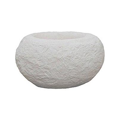 Polystone Rock - Kunststof pot - Findling White - H 22cm