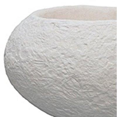 Polystone Rock - Kunststof pot - Findling White - H 48cm