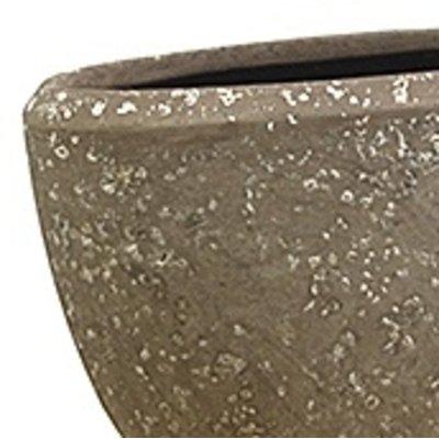 Polystone Rock Plain- Kunststof pot - Oval - H 30cm