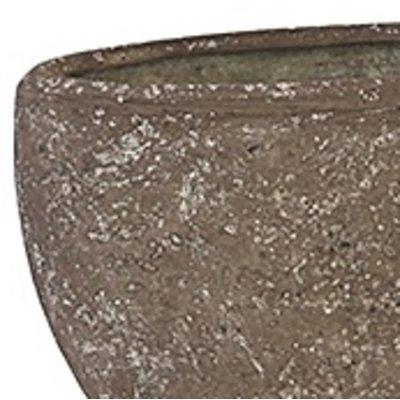Polystone Rock Plain- Kunststof pot - Oval - H 40cm