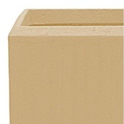 Polystone - Kunststof pot - Square Natural - H 26cm