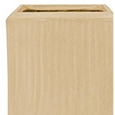 Polystone - Kunststof pot - Square Natural - H 90cm
