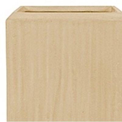Polystone - Kunststof pot - Square Natural - H 120cm