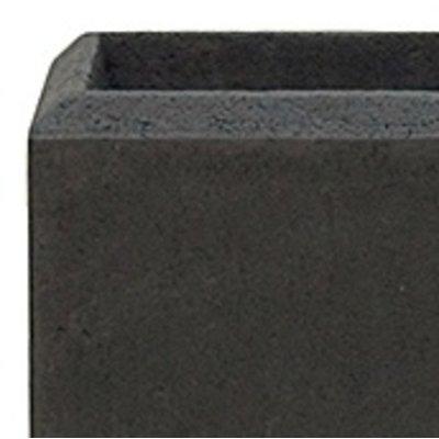 Polystone - Kunststof pot - Square Smoke - H 17cm