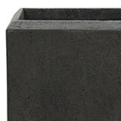 Polystone - Kunststof pot - Square Smoke - H 26cm