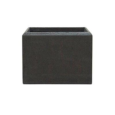 Polystone - Kunststof pot - Square Smoke - H 25cm