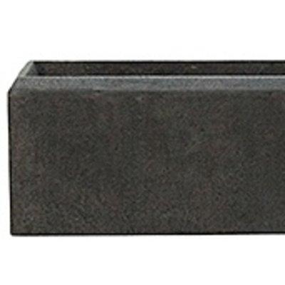 Polystone - Kunststof pot - Rectangle Smoke - H 17cm