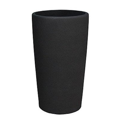 Polystone Timeless - Kunststof pot - Round Smoke - H 59cm