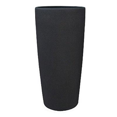 Polystone Timeless - Kunststof pot - Round Smoke - H 95cm