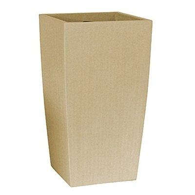 Polystone Timeless - Kunststof pot - Square Natural - H 78cm
