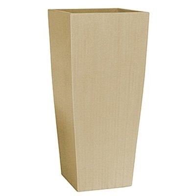 Polystone Timeless - Kunststof pot - Square Natural - H 95cm