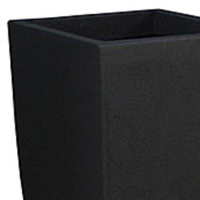 Polystone Timeless - Kunststof pot - Square Smoke - H 59cm