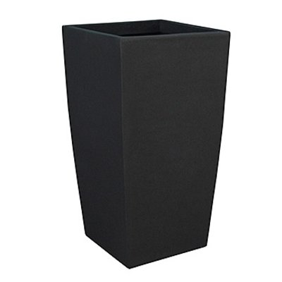 Polystone Timeless - Kunststof pot - Square Smoke - H 78cm