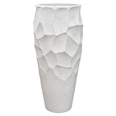 Polystone Nathan James - Kunststof pot - Planter White - H 90cm