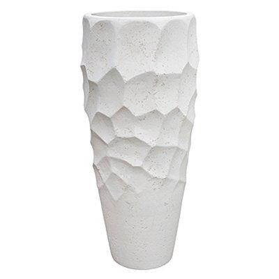 Polystone Nathan James - Kunststof pot - Planter White - H 110cm