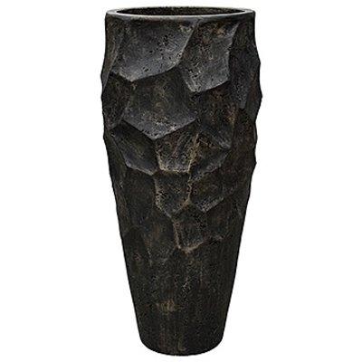 Polystone Nathan James - Kunststof pot - Planter Pueter Champagne - H 90cm