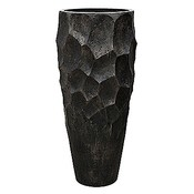 Polystone Nathan James - Kunststof pot - Planter Pueter Champagne - H 110cm