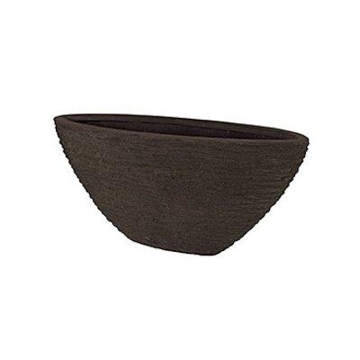 Polystone - Kunststof pot - Oval Seaside Brown - H 40cm
