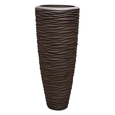 Polystone - Kunststof pot - Partner Seaside Brown - H 90cm