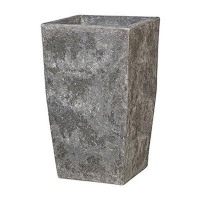 Polystone Timeless - Kunststof pot - Square Lava Raw Grey - H 59cm