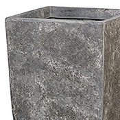 Polystone Timeless - Kunststof pot - Square Lava Raw Grey - H 78cm
