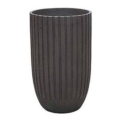 Polystone Lourdee - Kunststof pot - Cylinder Brown - H 50cm
