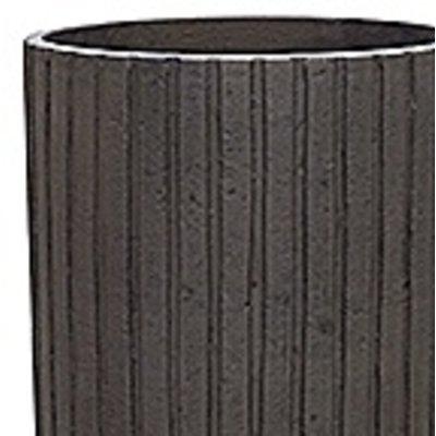 Polystone Lourdee - Kunststof pot - Cylinder Brown - H 70cm
