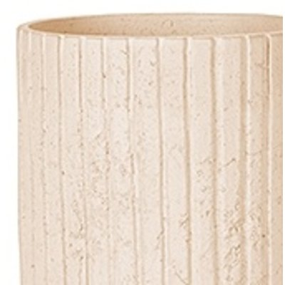 Polystone Lourdee - Kunststof pot - Cylinder White - H 50cm