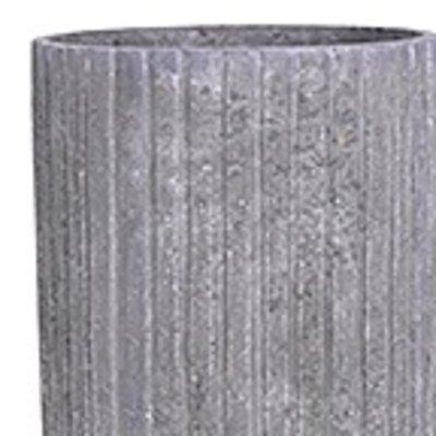 Polystone Lourdee - Kunststof pot - Cylinder Lava Raw Grey - H 70cm