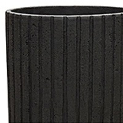 Polystone Lourdee - Kunststof pot - Cylinder Smoke - H 50cm