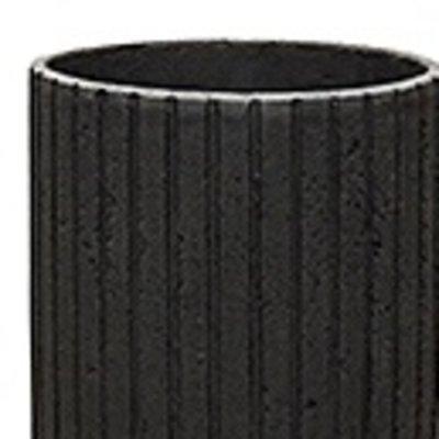 Polystone Lourdee - Kunststof pot - Cylinder Smoke - H 90cm