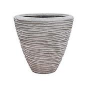 Polystone - Kunststof pot - Couple Seaside Lava Raw Grey - H 51cm