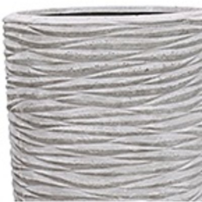 Polystone - Kunststof pot - Partner Seaside Lava Raw Grey - H 150cm