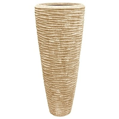 Polystone - Kunststof pot - Partner Seaside Natural White - H 120cm