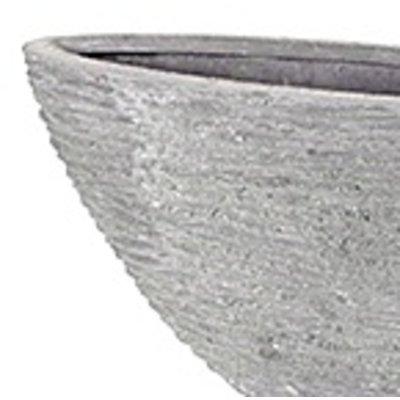 Polystone - Kunststof pot - Oval Seaside Lava Raw Grey - H 40cm