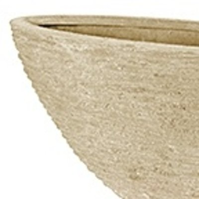 Polystone - Kunststof pot - Oval Seaside Natural White - H 40cm
