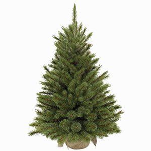 Forest Frosted Pine - Groen met burlap/jute voet - Triumph Tree kunstkerstboom