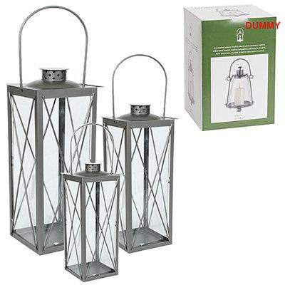 Set van 3 lantaarns, serie Wenen antraciet