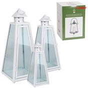Set van 3 lantaarns, serie Napels wit