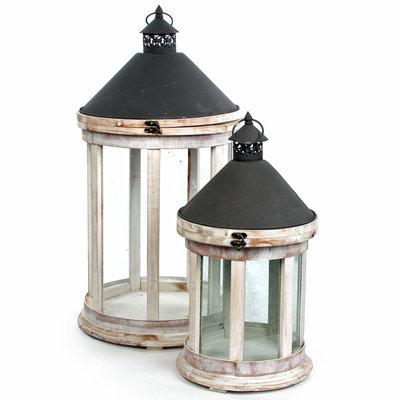 Houten set lantaarns 'Palermo'