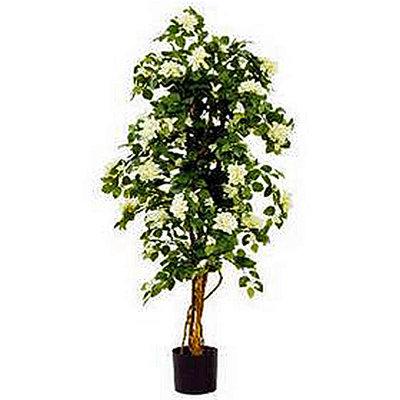 Mica Decorations - Kunstplant Bougainvillea Groen-Wit - H 150cm - in kunststof pot