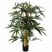 Künstliche Pflanze Bambus Grün - H 100cm - Kunststofftopf - Mica Decorations