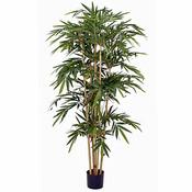Kunstplant Bamboe Groen - H 180cm - Kunststof pot - Mica Decorations