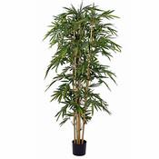 Künstliche Pflanze Bambus Grün - H 210cm - Kunststofftopf - Mica Decorations