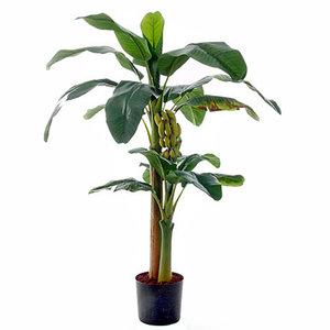 Künstliche Pflanze Bananenbaum Grün - H 150 cm - Kunststofftopf - Mica Decorations