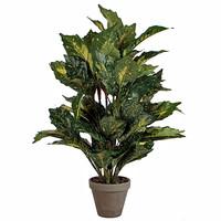Künstliche Pflanze Aucuba Grün - H 65cm - Keramiktopf - Mica Decorations
